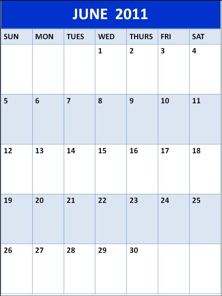 june 2011 calendar blank. lank june calendar 2011.