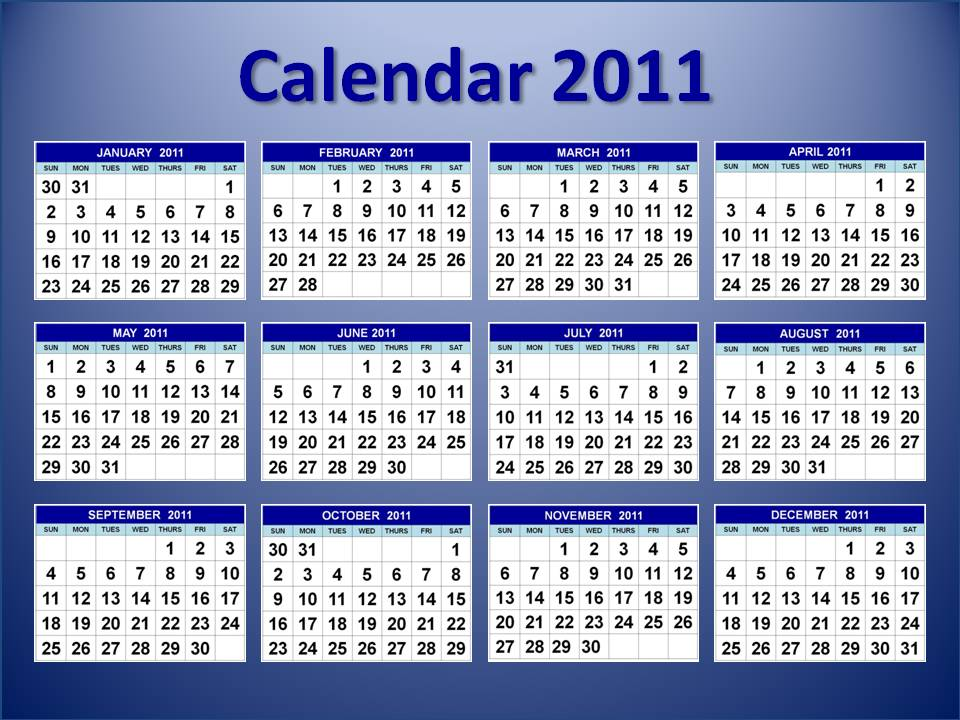 Image 2011 Calendar Printable One Page Download