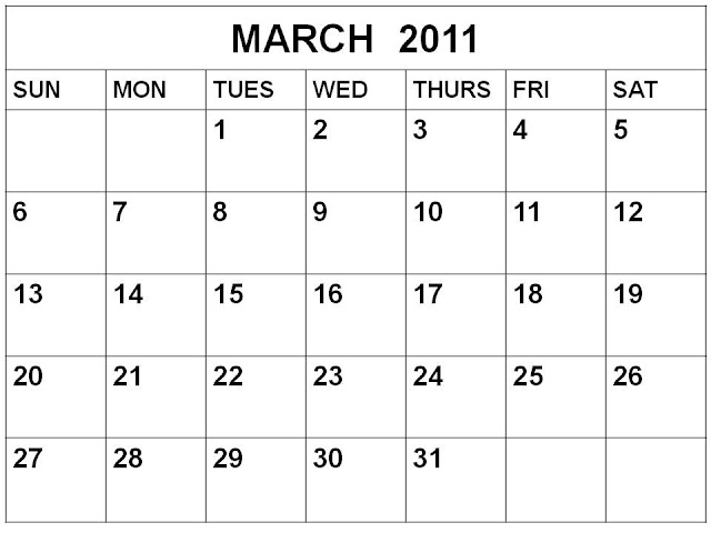 2011 calendar for march. To download and print these Free Monthly Blank Calendar 2011 March or