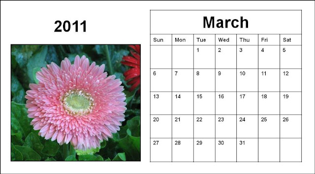 blank march 2011 printable calendar. dresses 2011 printable march