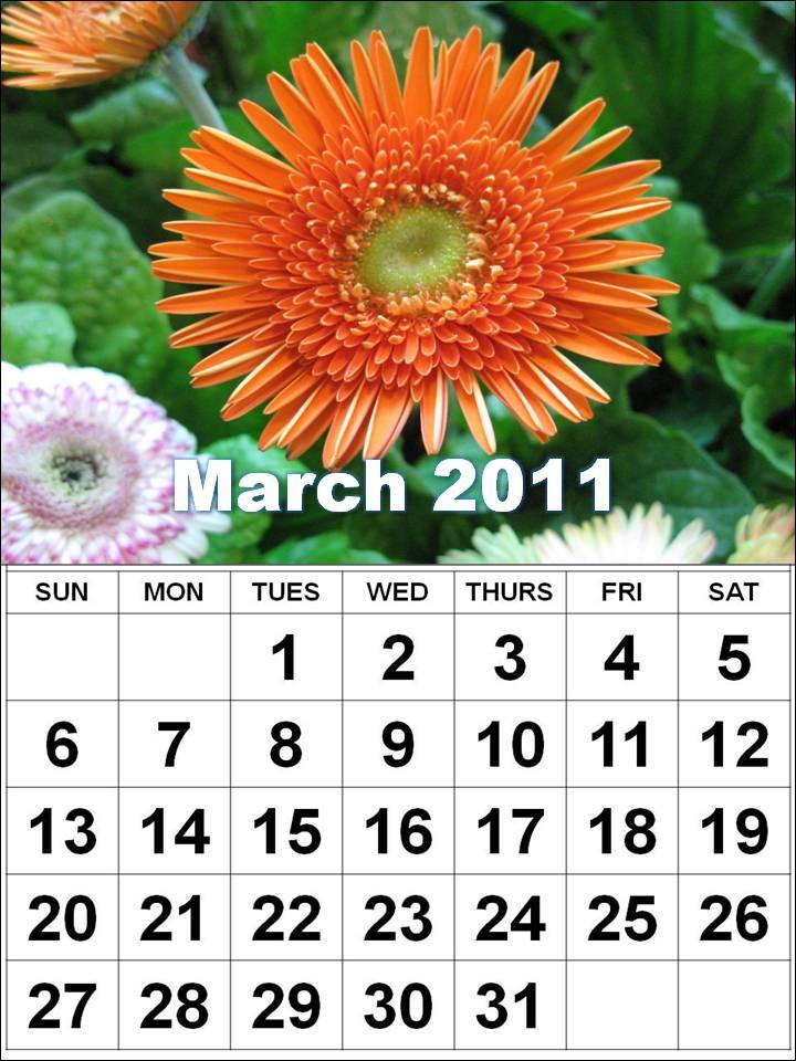march calendars 2011. blank march calendar 2011