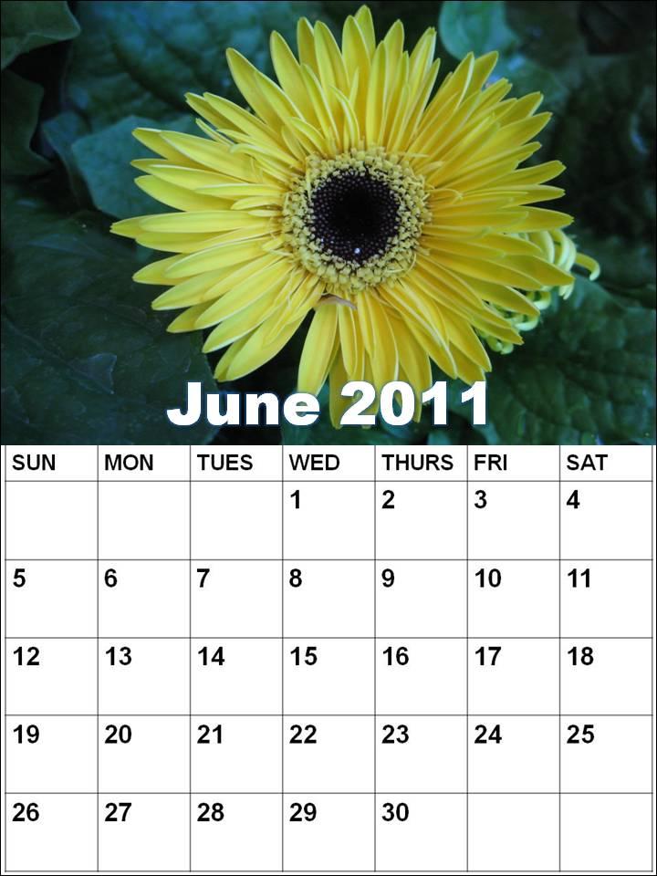 blank calendar 2011 june. Blank Calendar 2011 June or
