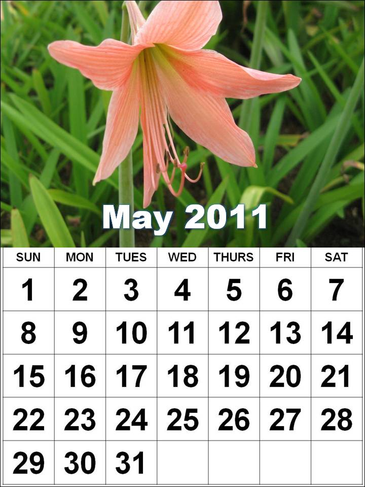 may 2011 calendar page. may 2010 calendar with