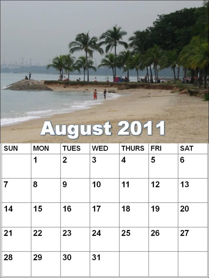 august calendar for 2011. Blank Calendar 2011 August or