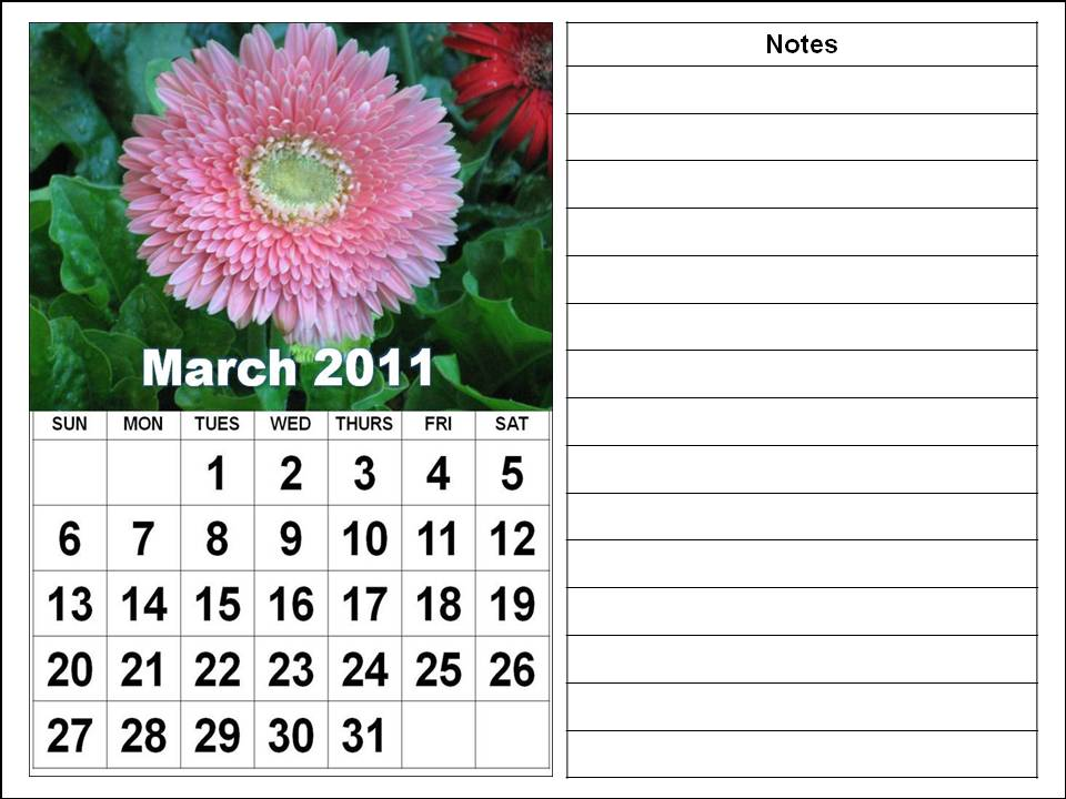 2011 monthly calendar march. +calendar+2011+march