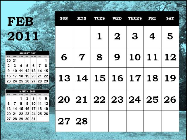 monthly calendar 2011 february. 44, Monthly+calendar+2011+