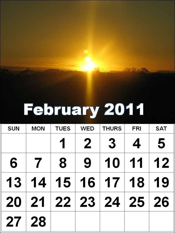 2011 calendar february. february 2011 calendar print