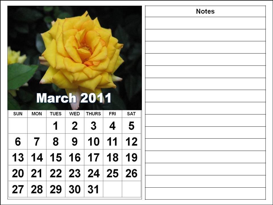 calendar 2011 march template. Printable Calendar Template