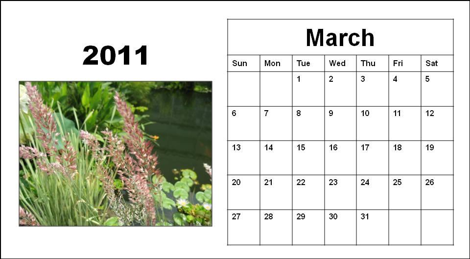 calendar 2011 template march. CALENDAR 2011 MARCH TEMPLATE