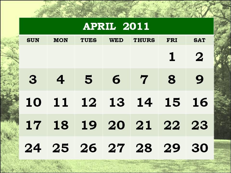 2011 april calendars. Homemade+calendar+2011