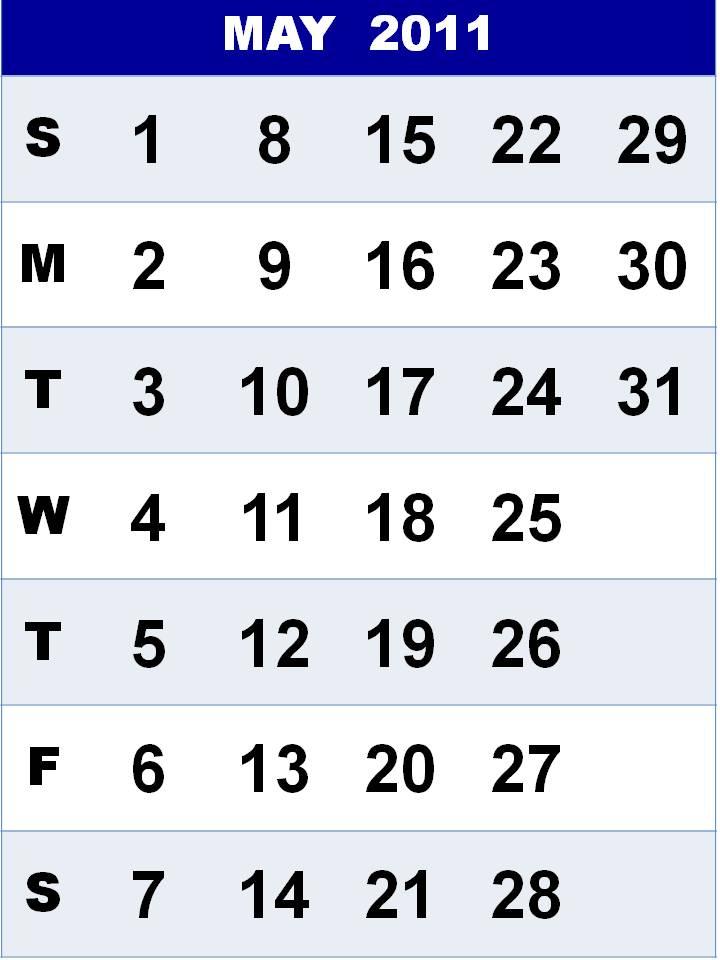 may calendar 2011 template. first Calendar+2011+may+