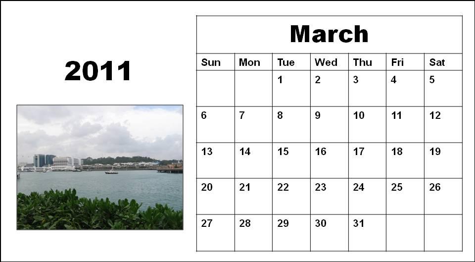 calendar 2011 march template. calendar march 2011 template.