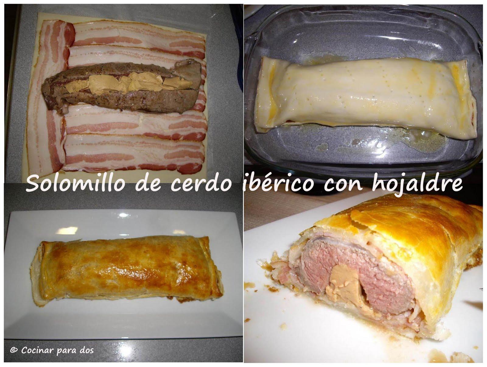 Solomillo de cerdo ib rico con hojaldre cocinar para 2 Solomillo iberico al horno
