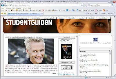 STUDENTGUIDEN - tidningen för Sveriges alla studerande som vill hitta rätt i karriären!