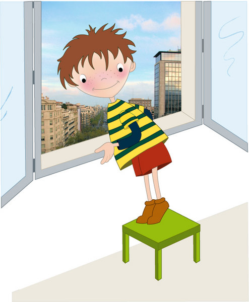 las bancas ventanas y no correr en las escaleras es una zona de