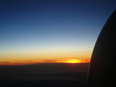 sunselt from plane