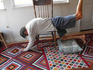 chair kneeling and back arching