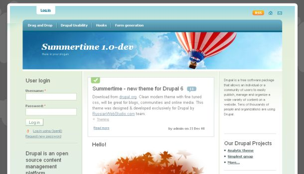 Summer Time Free Drupal Theme