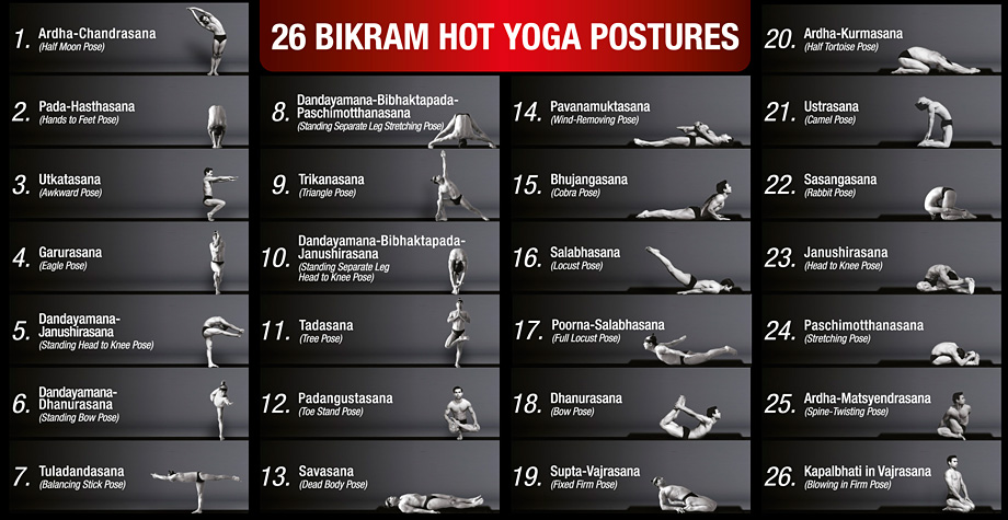 26 Bikram Hot Yoga Postures