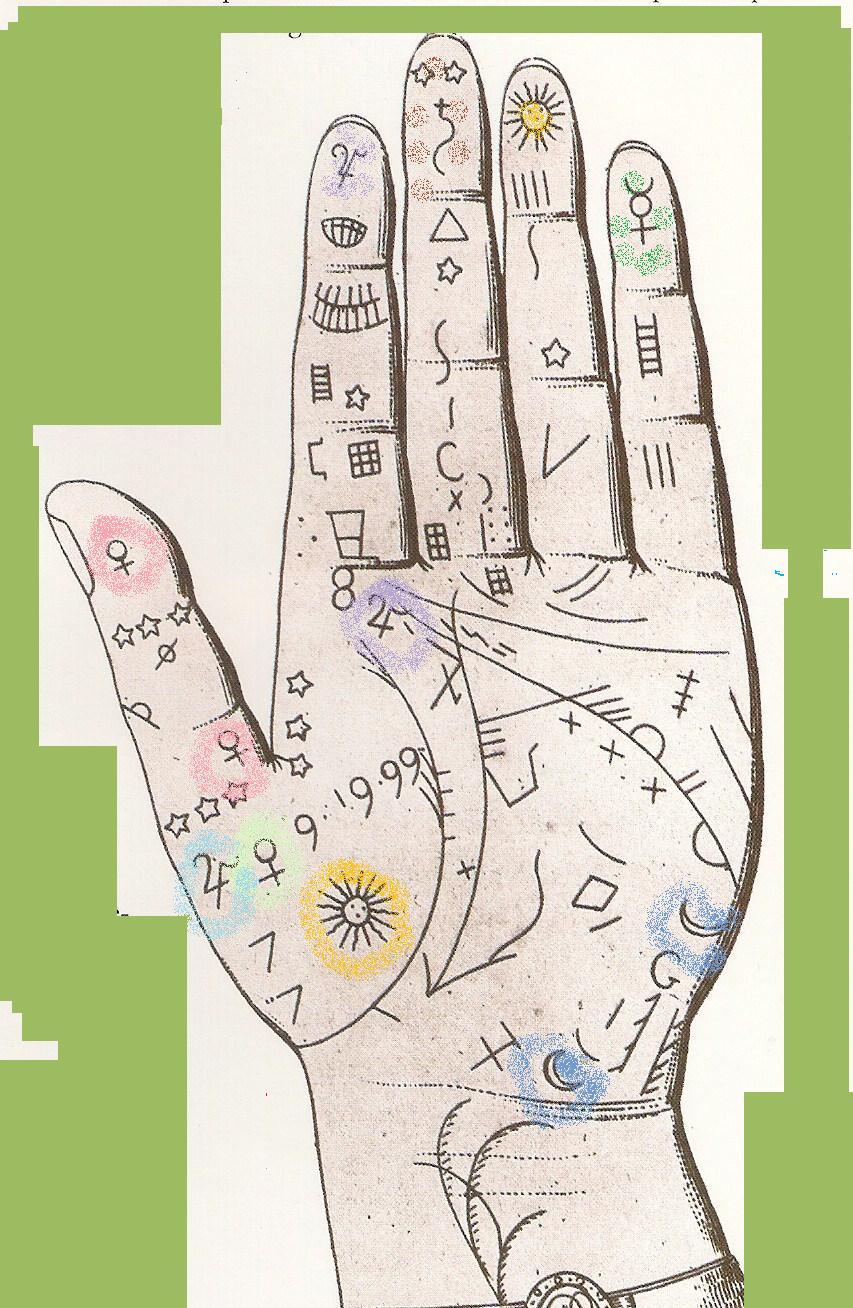 La quiromancia lectura de la mano ac 225 un dibujo de la mano