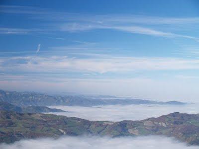 Nebbia dal Monte Comero