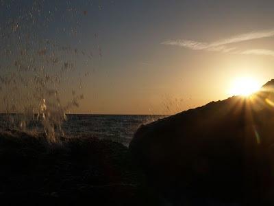 Tramonto sul mare del Cilento