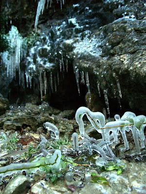 Verdon: ghiaccio lungo il fiume