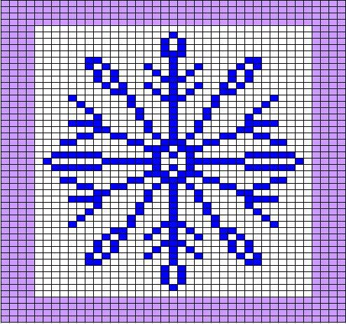 Chemknits Snowflake Knitting Chart V2