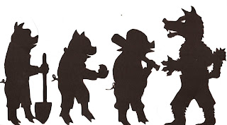 Cuttin it up amongst the sagebrush shadow puppets for The three little pigs puppet templates