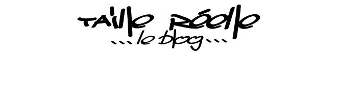 Taille Réelle // Le Blog