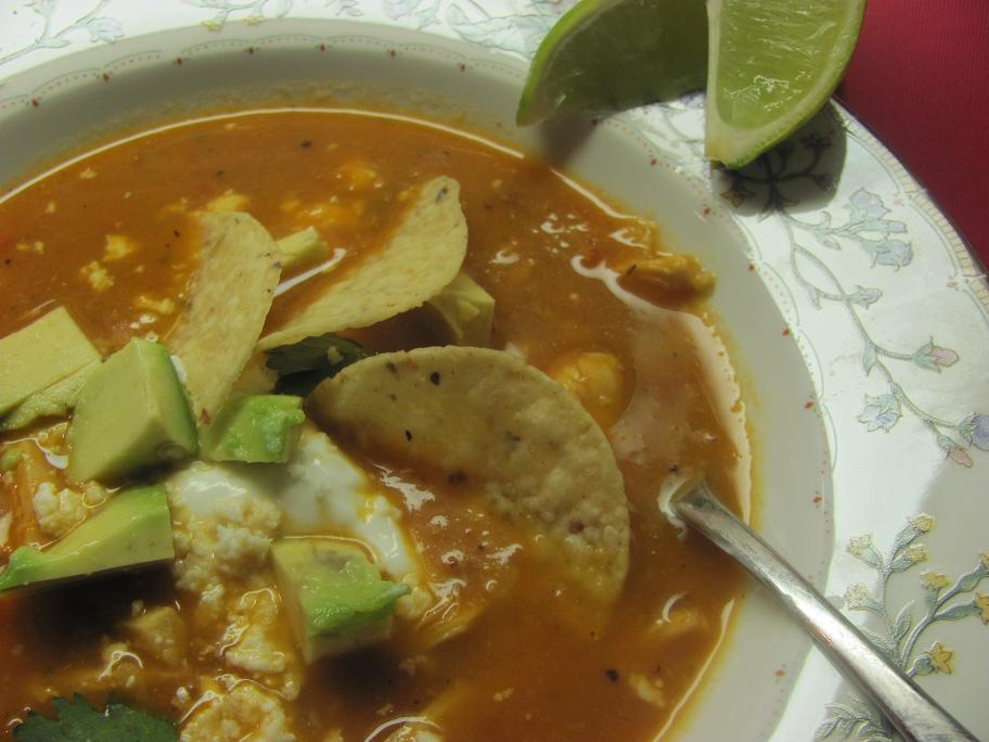 Family, Stamping and FOOD!: RECIPE: Mexican Chicken Tortilla Soup