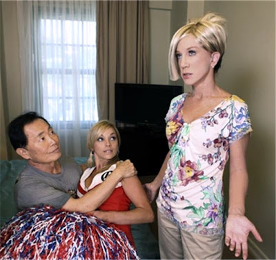 ... caught making out with a cheerleader by Kathy Griffin as Kate Gosselin.
