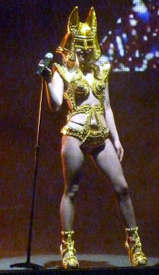 lady gaga gold outfit