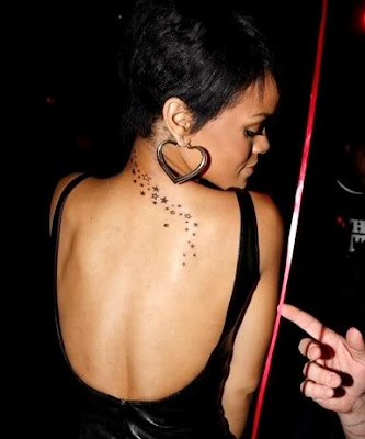 rihanna star tattoos. rihanna star tattoo.