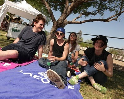 Kristen Stewarts Brother on Robstenlovers  Kristen Stewart At Coachella With Her Brother