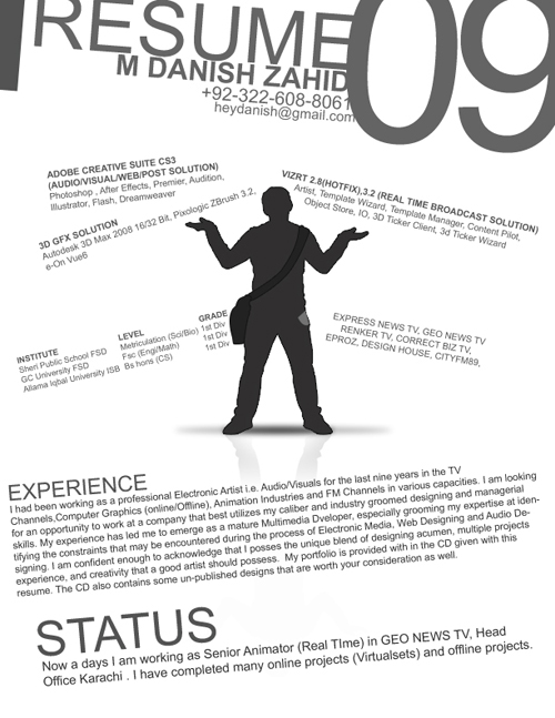 the art of communication  resumes designs