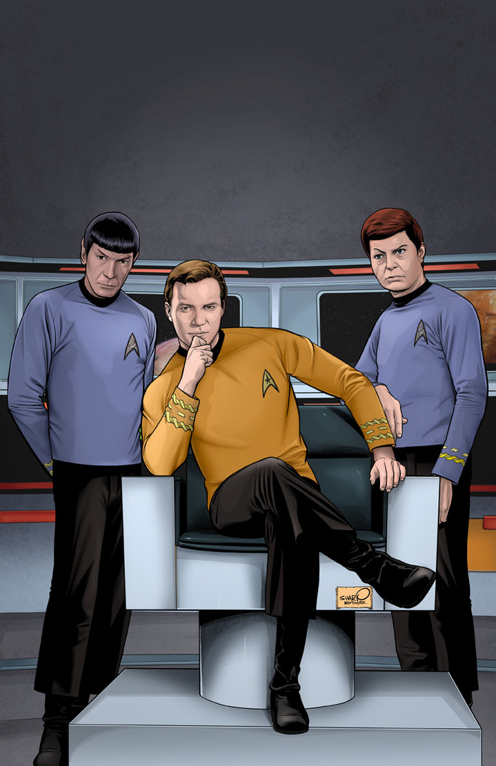 Star Trek Archive   Kirk by sharpbrothers ... ripped up fishnets, long cut off shorts, a cut up t shirt, metal studded ...