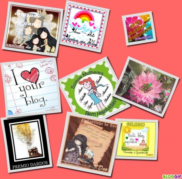 Selos recebidos de amigas