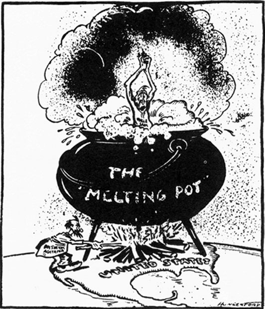 melting pot american society Melting pots and salad bowls by bruce  or even racist attempt to impose and monitor an exclusive notion of american identity and  the melting pot and the.