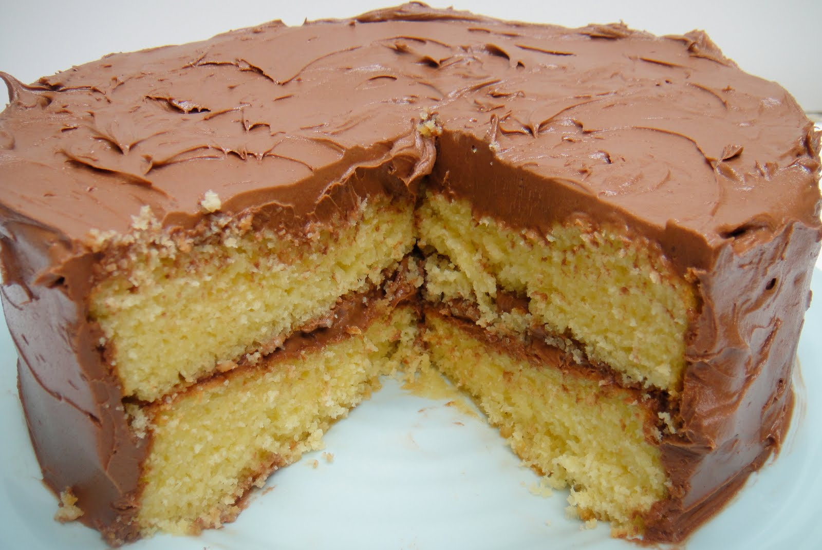 Moist Yellow Cake With Bittersweet Chocolate Frosting ...
