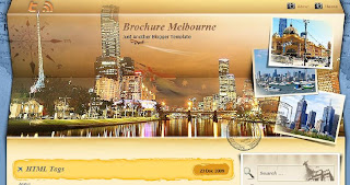 Brochure Melbourne - Free Blogger Template - 2 columns, right sidebar, personal blog, travel blog, brown, RSS, Twitter button
