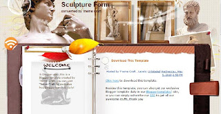 Free Blogger Template - Sculpture Form - 2 columns, left sidebar, white, welcome message, notebook style, rss link