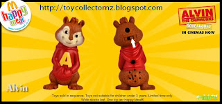 McDonalds Alvin and the Chipmunks Happy Meal Toys 2010 - New Zealand and Australia release - Alvin