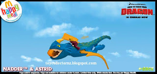 McDonalds Dragon Happy Meal Toys - Nadder and Astrid