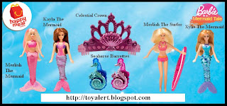 McDonalds Barbie in a Mermaids Tale toys 2010 - 6 piece set