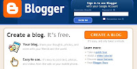 Blogger.com Create a Blog Page