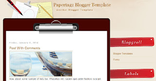 Papertagz Free Blogger Template