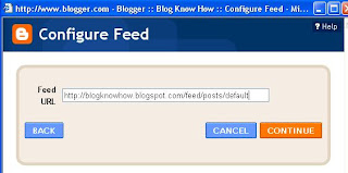 Add Site Feed Widget to Blogger Sidebar and Configure Site Feed