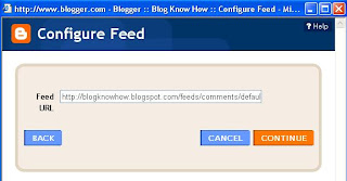 Add Site Feed Widget to Blogger Sidebar and Preview Site Feed of Recent Comments