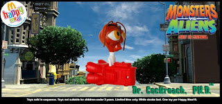 Monsters vs Aliens Happy Meal Toys 2009 - Dr Cockroarch Ph.D